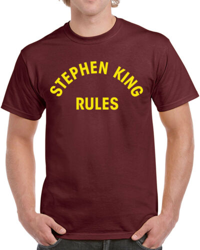 013 Stephen King Rules mens T-shirt funny halloween scary squad costume vintage