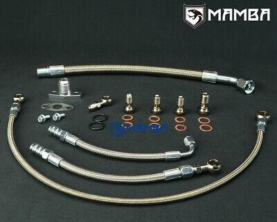 Kinugawa VOLVO 740 940 B230FT Turbo Oil//Water Line Kit w//Stock Mitsubishi TD04 turbo