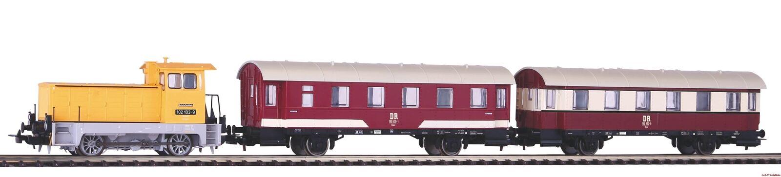 H0 Piko Zugset transport br102.1 + 2 Passenger Car DR Ep. IV PIKO 58135
