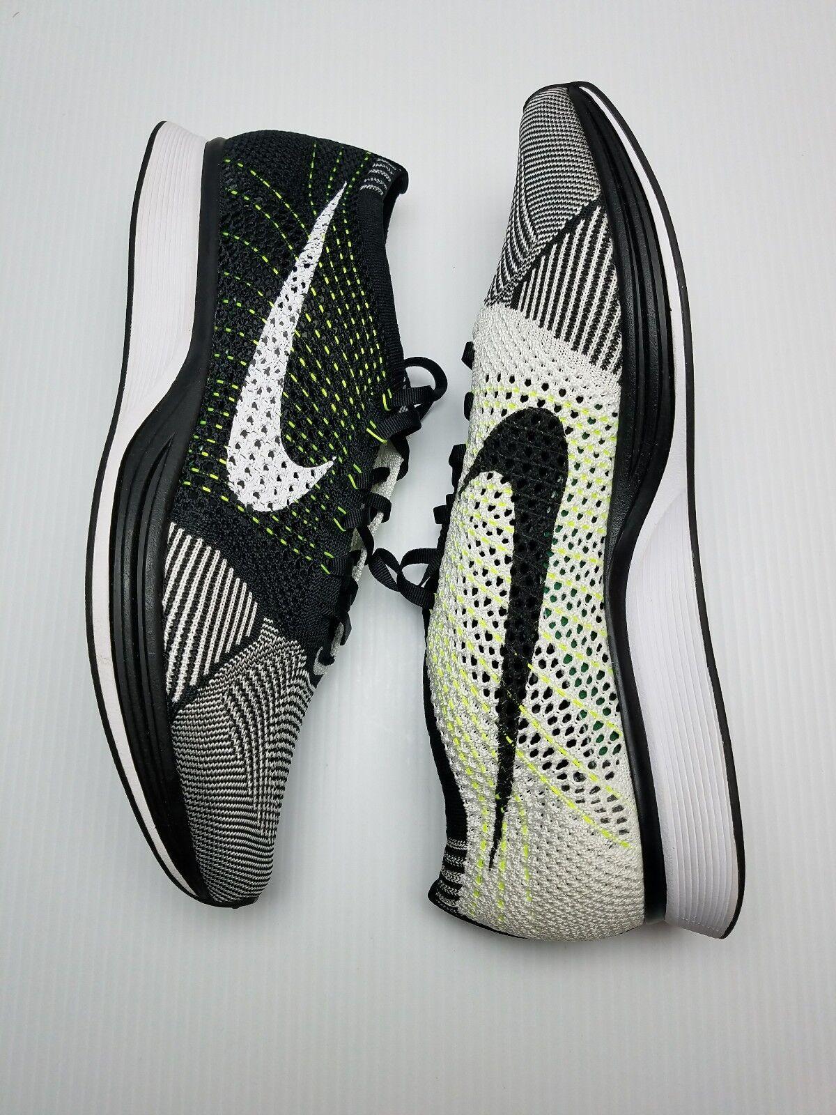 sports shoes ca4a9 fbc99 ... usa nike flyknit racer männer laufschuhe 526628 011 schwarz weiß weiß  oreo volt sz. bba3c5