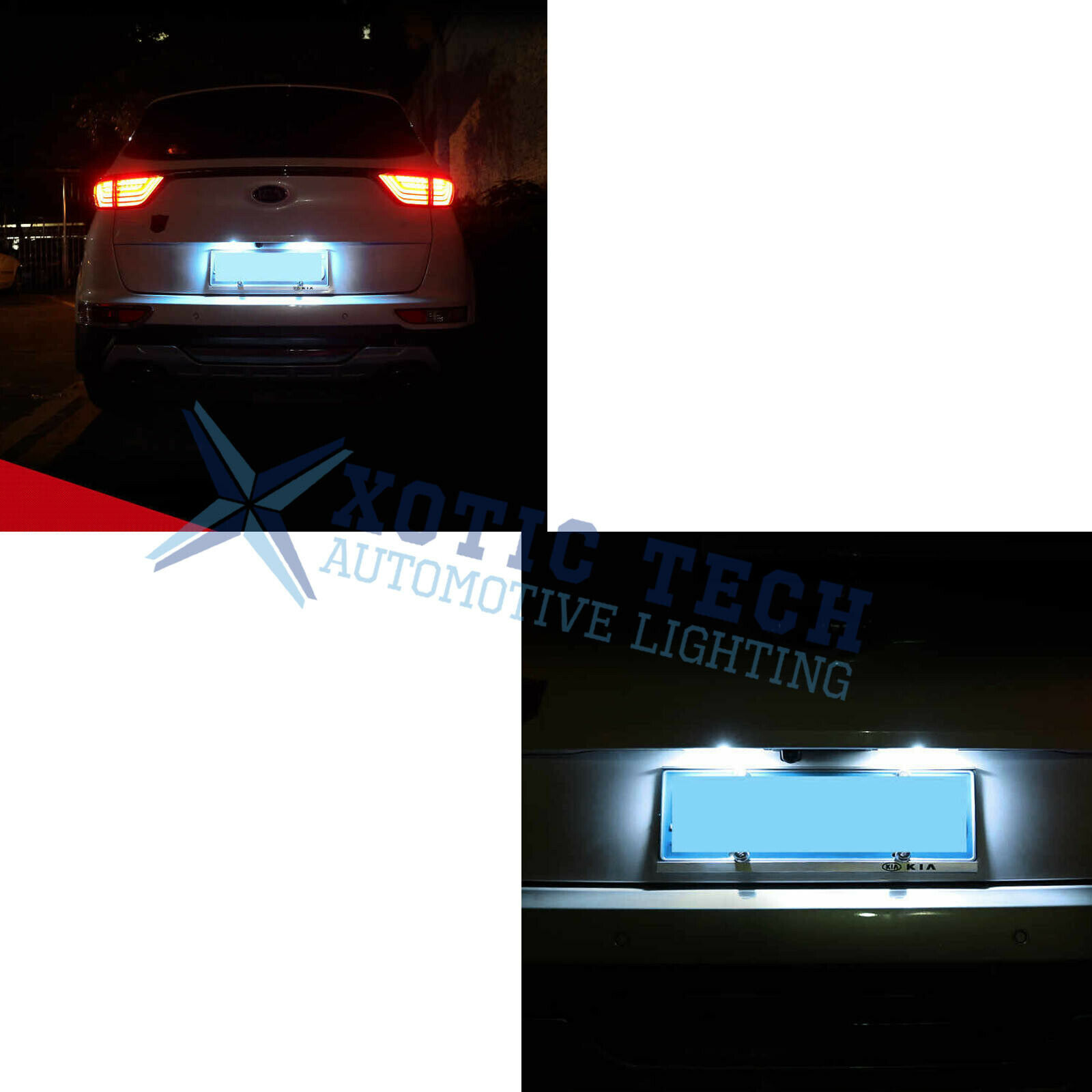 Reversing Camera Integrated in Number Plate Light License Rear View Backup Camera for Kia//Sportage//Sorento