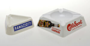 Ramazzotti-Carpano-lotto-di-2-portacenere-vintage-ashtray-in-melamina-anni-039-60