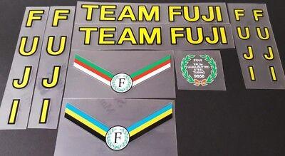 Fuji Team Fuji 1986 Bicycle Decal Set sku Fuji-S103