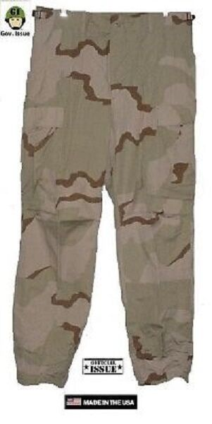 US Army 3 Colour Desert DCU Trousers Pants Outdoor Desert Camouflage XSS Short