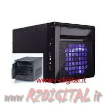CASE ITEK MINI ITX NCUBE STORAGE SERVER ALIMENTATORE 300W NAS PC COMPUTER