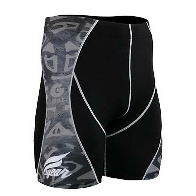 FIXGEAR P2S-B43 Compression Skin Tights Shorts MMA Workout Crossfit Fitness GYM
