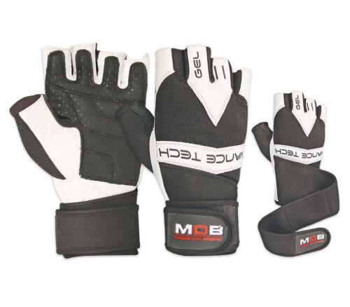 Mens Ladies Gym Gloves Straps Weight Lifting Gloves Bodybuilding Training S-XXL