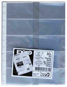 Nachfüllhüllen A4 10 Visitenkartenhüllen Für Nachfüllbares