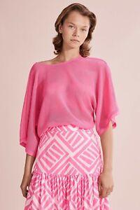 Country Road Mesh Kimono Sleeve Top - Pop Pink