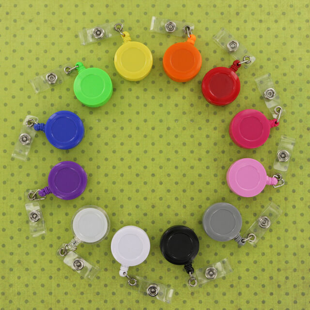 ID Badge Reel/Reels Lanyard Retractable Belt Clip/Clips CHOOSE COLOR & QUANTITY
