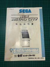 Sega New Astro City Model 2B Cabinet Manuel Borne Arcade Jamma Japonaise Manual