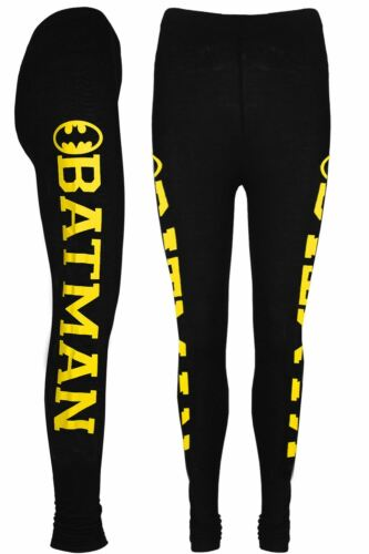 Girls Kids Batman Full Length Leggings Superman New York Like a Boss Jegging