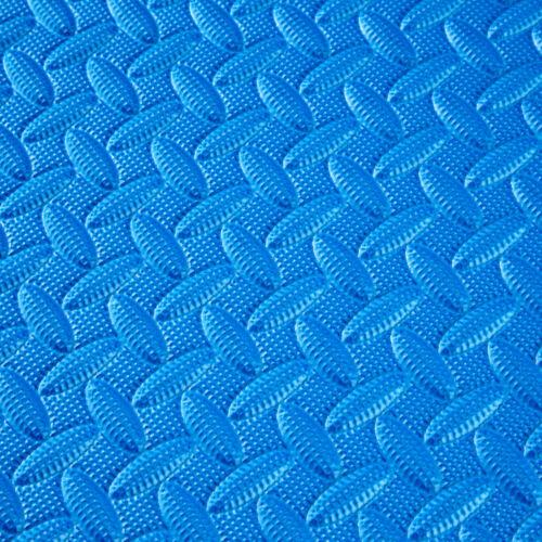 Conjunto de 12 esteras de protección dispositivo de fitness para gimnasio azul