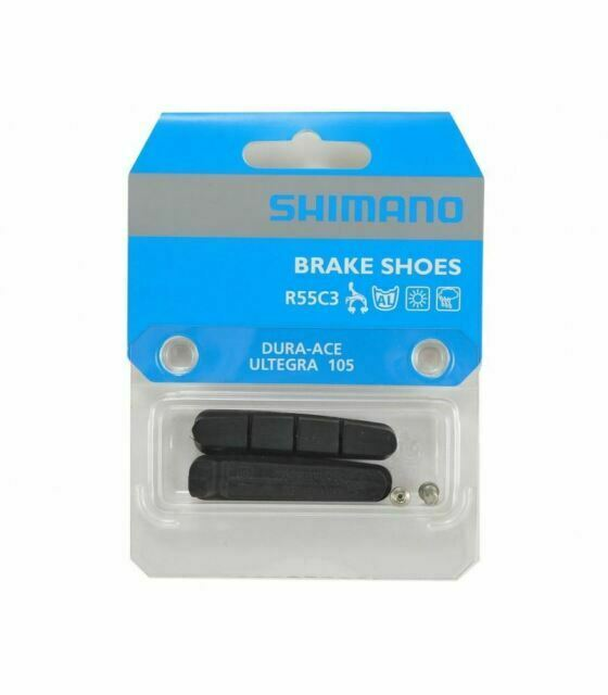 for Dura-Ace Ultegra /& 105 Twin Pack Set of 4 Shimano Brake Shoes Pads  R55C3