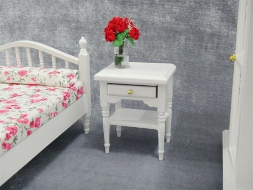 Dollhouse Miniature Bedroom Furniture Beside End Table Nightstand Cabinet 1//12