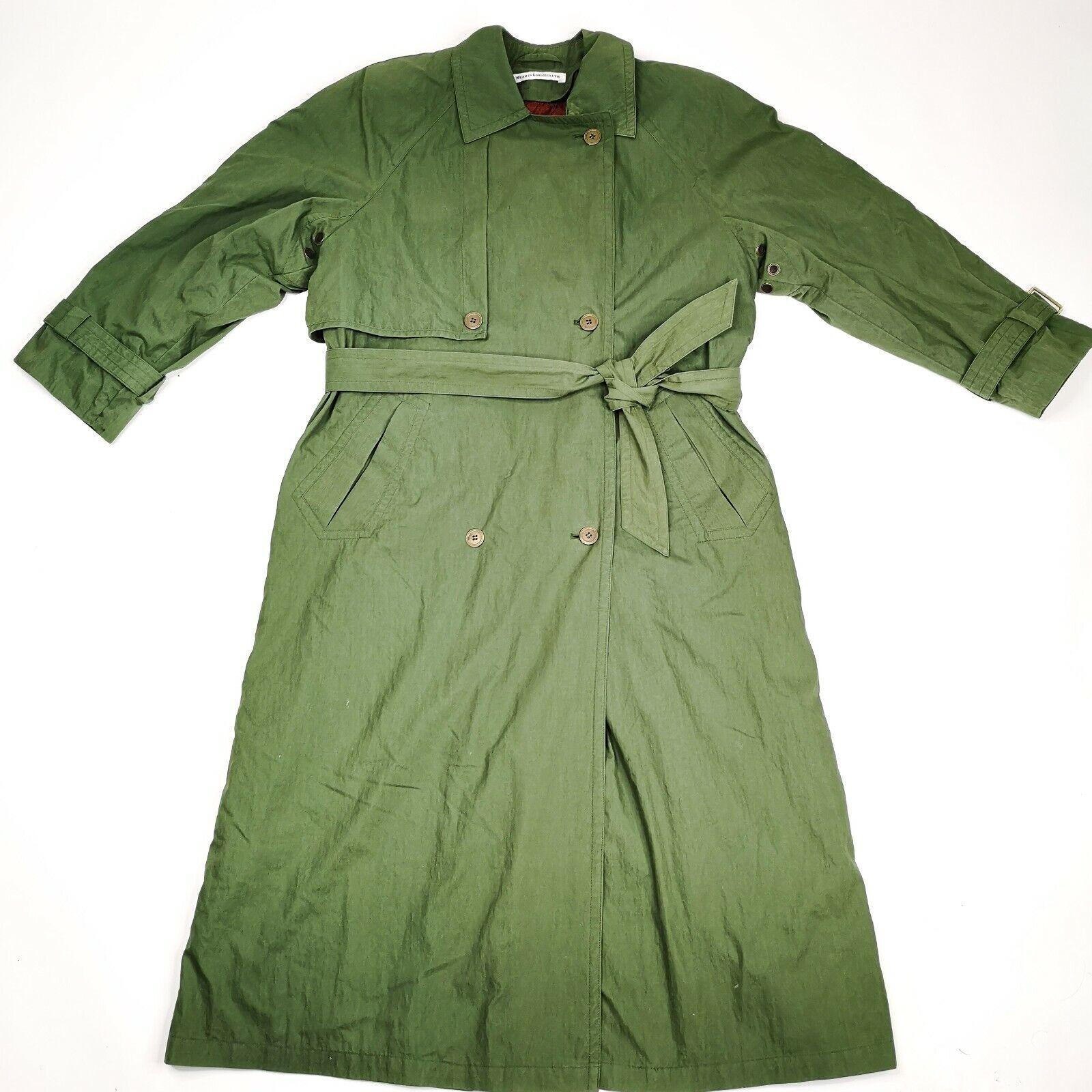 MISTY HARBOR Trench Coat Jacket 8 Olive Green - image 1