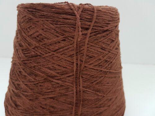Wolle NaturGarn Stricken Weben /& Handstricken|Chenille baumwoll braun 800gr|cf57