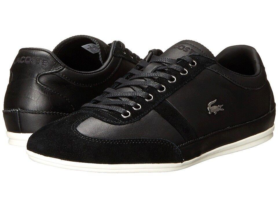 Lacoste Misano 33 SRM Cuero Negro Zapatillas Hombres   7-29SRM2120024 Talla 7.5 - 11
