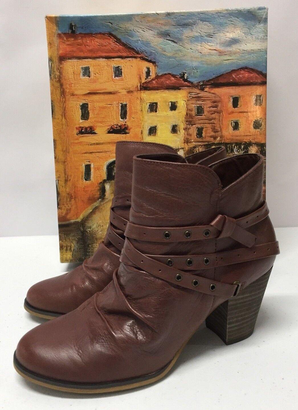 Bella-Vita Womens Dark Tan Kiki Ankle Boots Shoe Size 8 M