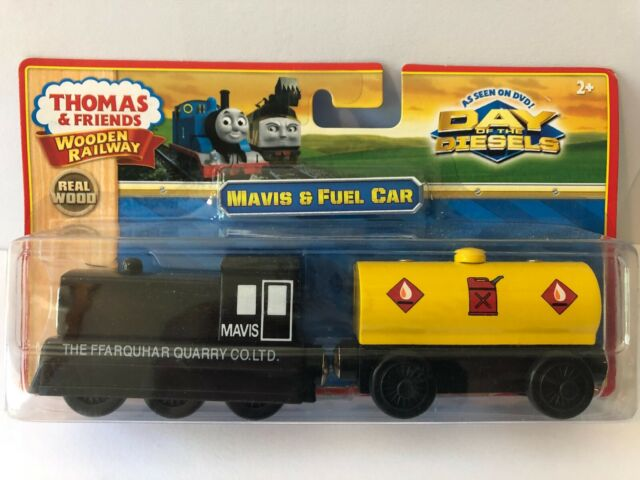 Genuine Thomas Wooden Train By Learning Curve Mavis Fuel Car Set Lc98128