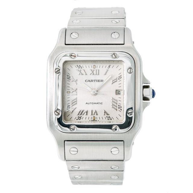 c0dbf4de5c4 Cartier Santos Galbee 2319 Unisex Automatic Watch Stainless Steel Silver  Dial