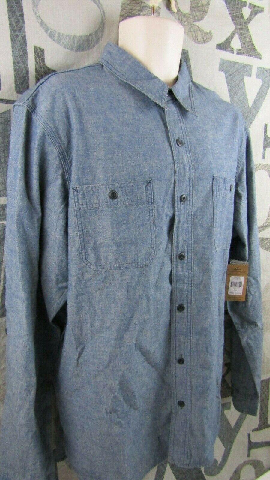 New Ralph Lauren Polo Premium Cotton bluee Denim Shirt Men XXL Button Up 2XL