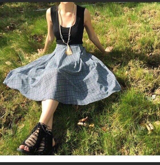 Anthropologie Aven Midi Skirt XS