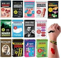 Bandages Adhesive Band Aids Cool & Cute Kids Retro Tin Pirate Tattoo Cupcake