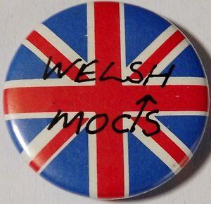 WELSH-MODS-Union-Jack-Old-OG-Vtg-1980-s-Button-Pin-Badge-25mm-1-034-not-parka-vespa