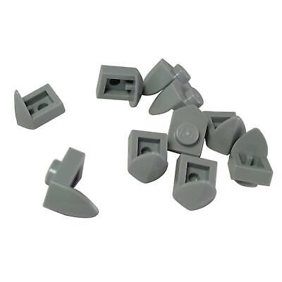 LEGO Lot of 10 Light Bluish Gray 1x1 Brick Pieces with Vertical Side Clip