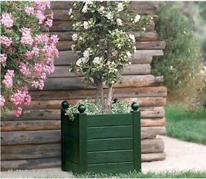 Details Sur Superbe 48ltr Carre Effet Bois Plante Baignoire Terrasse Planteur Pot De Jardin Arbuste Plante Afficher Le Titre D Origine