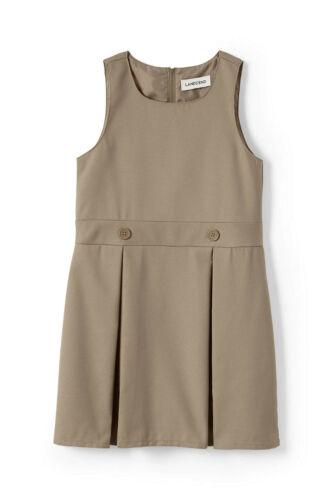 Lands/' End NWT School Uniform Girls Uniform Solid Jumper MSRP $38 Khaki