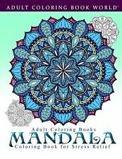 Coloring Book For Adults Mandala Beautiful Relaxation Stress Therapy Relief Fun