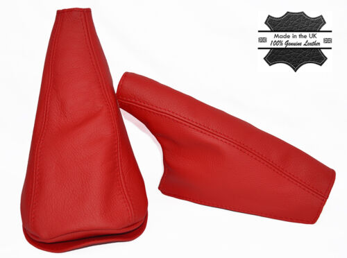 LIGHT RED LEATHER FITS MINI COOPER CLASSIC UP TO 2000 YEAR GEAR HANDBRAKE
