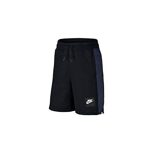 Brand New Men's Nike Sportswear Air Fleece Shorts 886052-011 Black/Blue  Size M