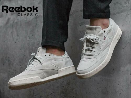 REEBOK CLASSICS CLUB MONTANA CANS COLLABORATION TRAINERS BEIGE CHALK SIZE 7