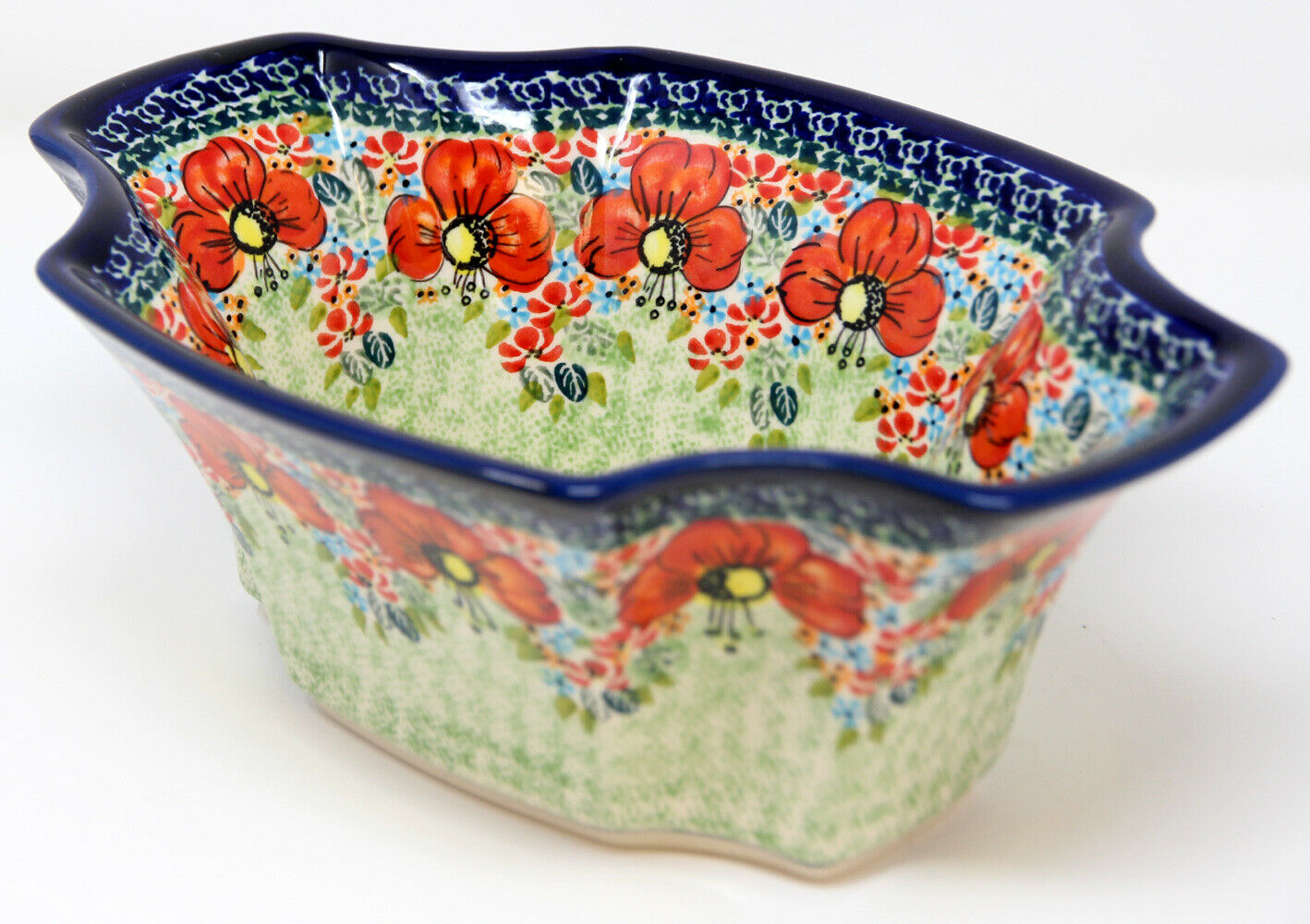 Polish Pottery Market Fruit Bowl 10.75  x 7.5  From Zaklady Boleslawiec 1203 296