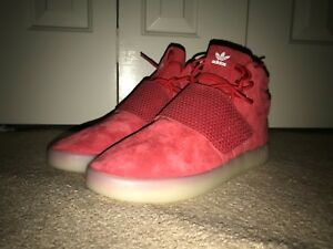 best service d507d 4b096 Details about adidas Tubular Invader Strap Shoes Men's Red