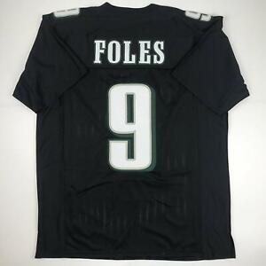 competitive price 423c4 472d7 Details about New NICK FOLES Philadelphia Black Custom Stitched Football  Jersey Size Men's XL