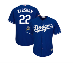 huge selection of 0dc2f b87eb Details about Los Angeles Dodgers Men's Clayton Kershaw 2018 World Series  Jersey - Royal