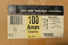New Ge General Electric Th3363 100 Amp 600 Volt Fusible Indoor Disconnect Switch