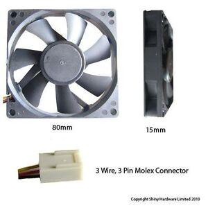 Evercool 80mm 8cm 80 x 80 x 15mm 3 pin 12 volt pc case fan for 12 volt window fan