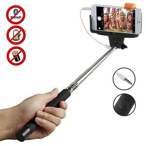 selfie stick telescopic phone camera holder cable shutter for iphone 6 5 samsung. Black Bedroom Furniture Sets. Home Design Ideas