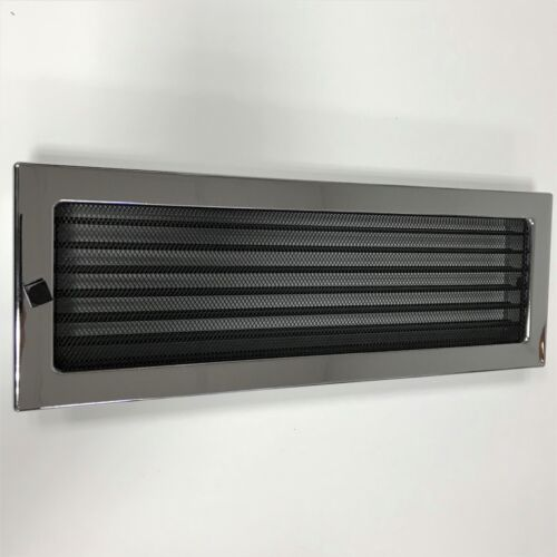 Dekorativ Lüftungsgitter Regulierbar aus Stahl Nickel Chrom Glänzend Luftgitter