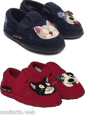 Clothing, Shoes & Accessories Boys' Shoes Able Haflinger Hund-und-katze Pantofole Bambino Bambina Lana Bimbo Bimba Gatto Cane
