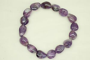 16x28mm Smooth Nugget Shape Amethyst Bead