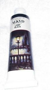 NEW-Winsor-Newton-Griffin-Alkyd-Oil-Color-37ml-CC-Tube-Permanent-LAMP-BLACK-6