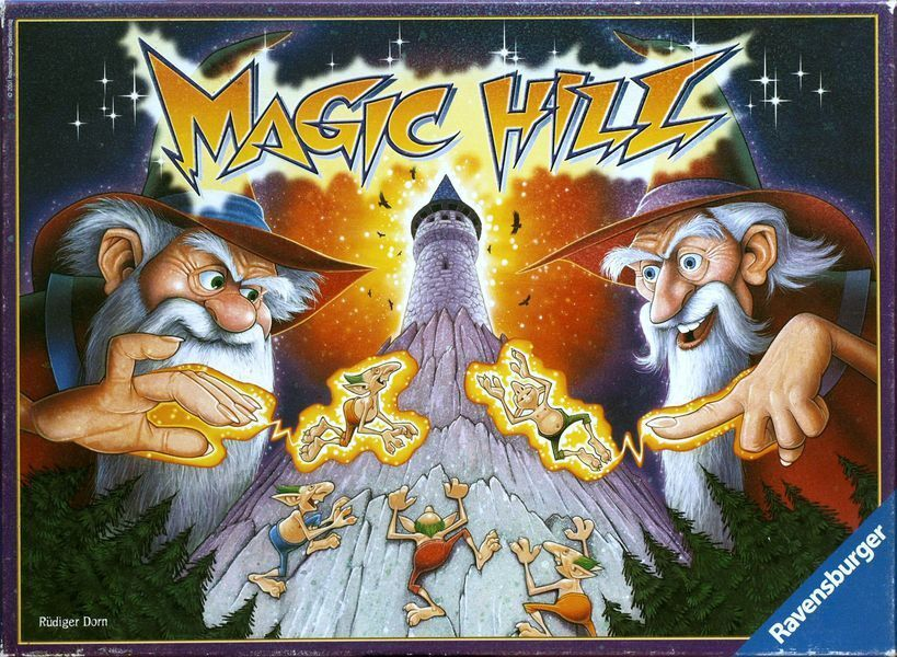 Magic Hill Board Game - Get your Goblins up the mountain with Wizards Help