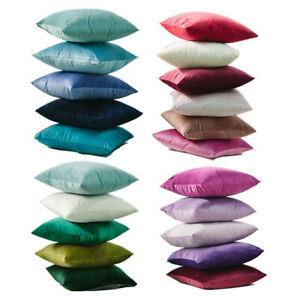 Solid-Luxury-Velvet-Pillow-Case-Soft-Decorative-Car-Sofa-Cushion-Cover-Gift