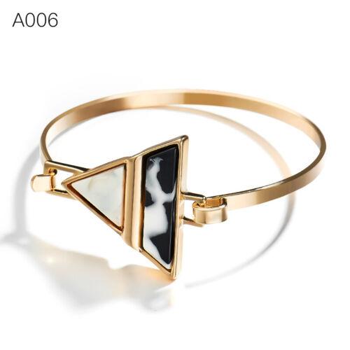 Women Crystal Wristband Punk Open Cuff Bracelet Bangle Chain Fashion Jewelry